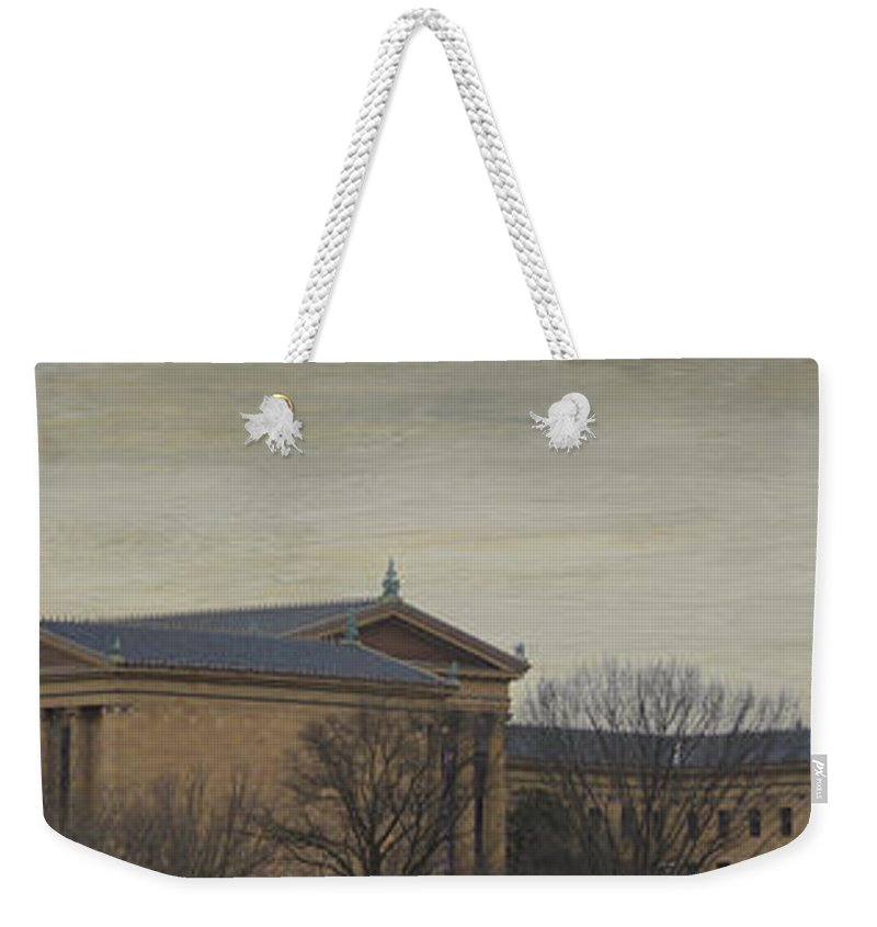 Philadelphia Weekender Tote Bag featuring the photograph Philadelphia Art Museum by Trish Tritz