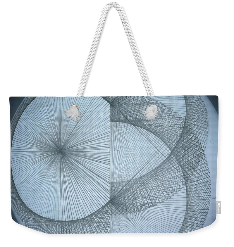 Photon Weekender Tote Bag featuring the drawing Photon Double Slit Test by Jason Padgett