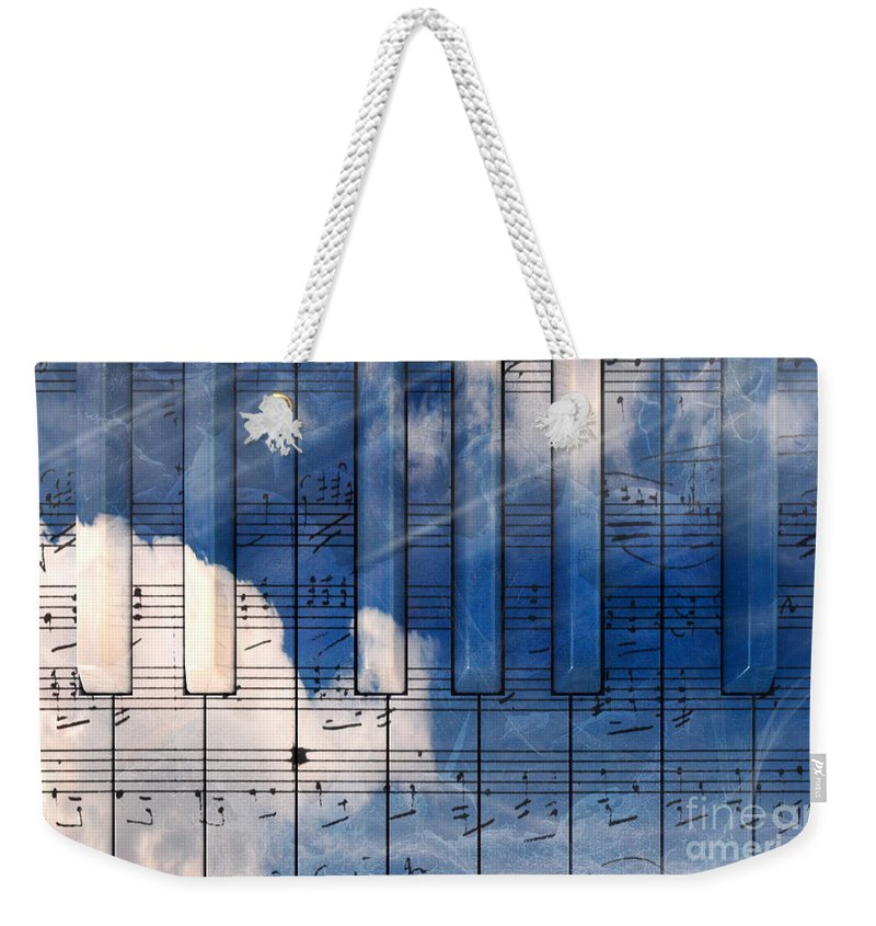 Music Weekender Tote Bag featuring the digital art Piano by Bruno Haver