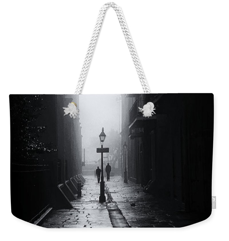 Alley Weekender Tote Bag featuring the photograph Pirate's Alley New Orleans by Mike Nellums