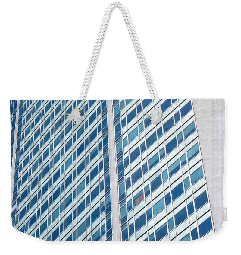 2015 Weekender Tote Bag featuring the photograph Pirelli Building by Valentino Visentini