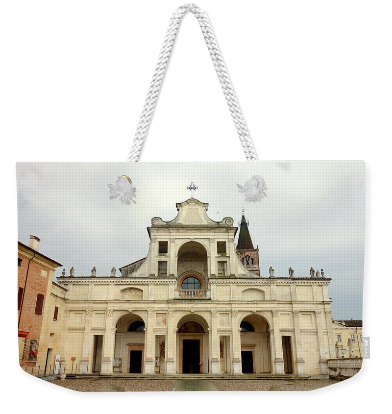 Abbey Weekender Tote Bag featuring the photograph Polirone Abbey by Valentino Visentini