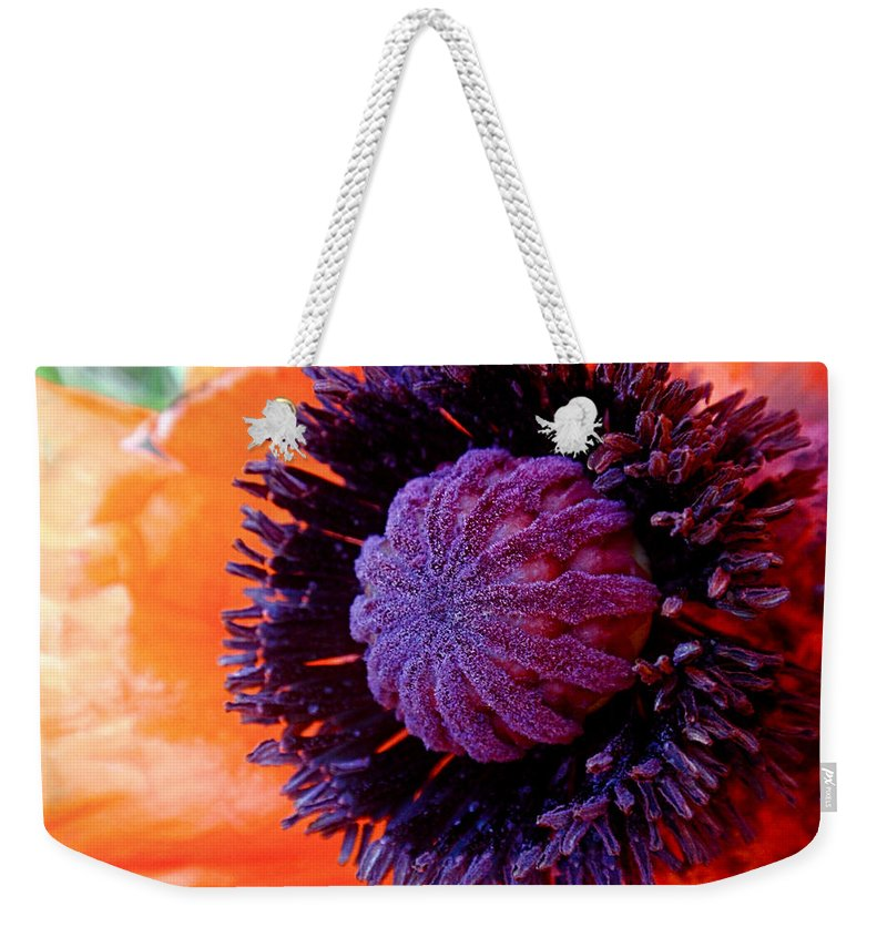 Poppy Weekender Tote Bag featuring the photograph Poppy by Rona Black