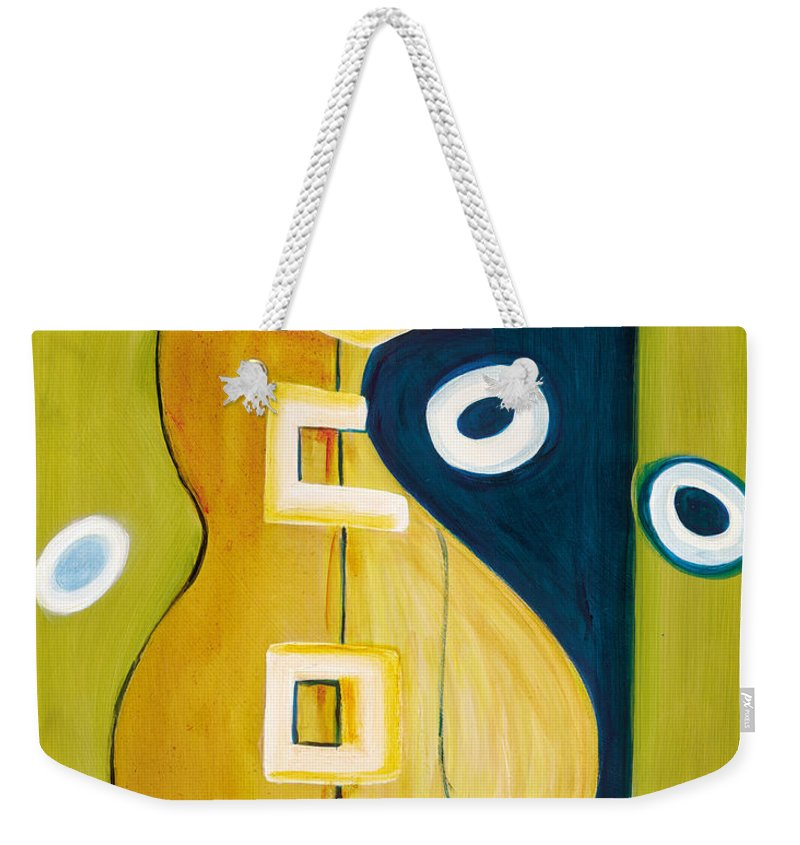 Abstract Art Weekender Tote Bag featuring the painting Portrait Of A Humble Man 4 by Stephen Lucas