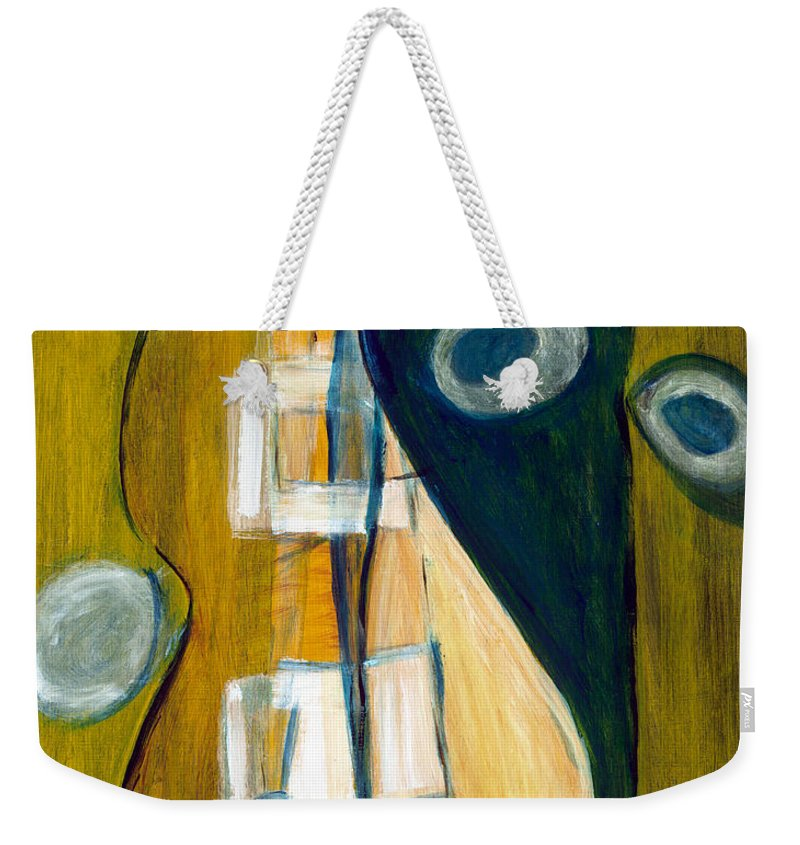 Abstract Art Weekender Tote Bag featuring the painting Portrait Of A Humble Man by Stephen Lucas