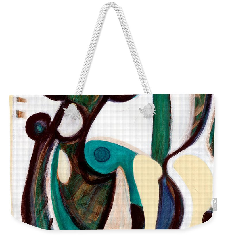 Abstract Art Weekender Tote Bag featuring the painting Portrait Of My Innocence by Stephen Lucas