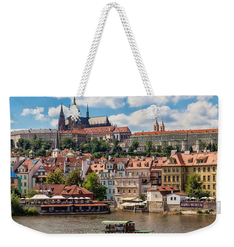 Prague Weekender Tote Bag featuring the photograph Prague Castle by Shirley Radabaugh