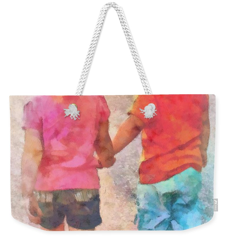 Jesus Weekender Tote Bag featuring the digital art Proverbs 17 17 by Michelle Greene Wheeler