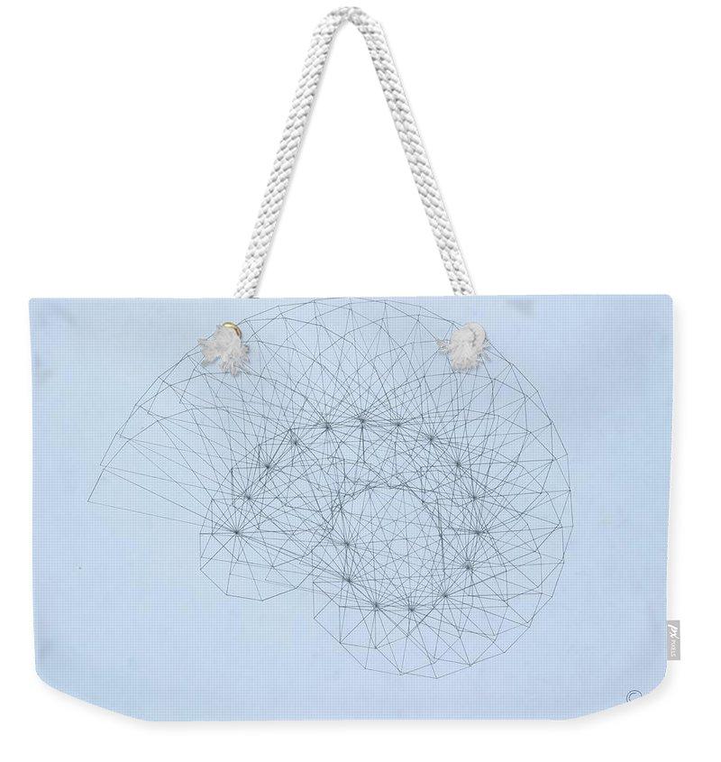 Jason Padgett Weekender Tote Bag featuring the drawing Quantum Nautilus by Jason Padgett