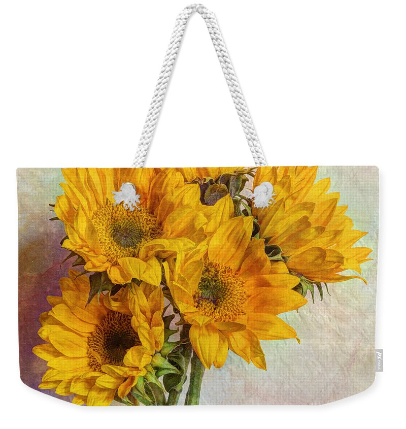 Yellow Weekender Tote Bag featuring the photograph Reaching For The Sun by Heidi Smith