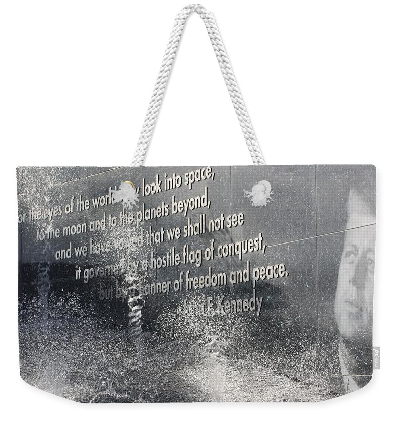 Rocket Weekender Tote Bag featuring the photograph Remember by Chuck Hicks