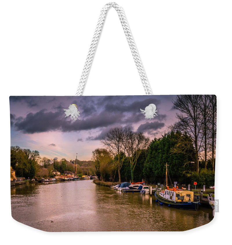 River Medway Weekender Tote Bag featuring the photograph River Medway by Dawn OConnor