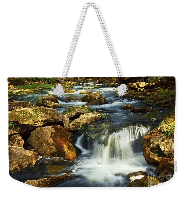 Waterfall Weekender Tote Bag featuring the photograph River Rapids by Elena Elisseeva