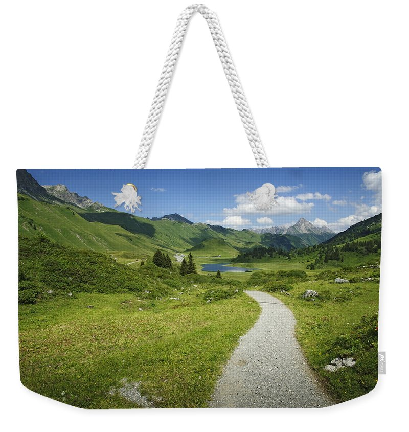 Road Weekender Tote Bag featuring the photograph Road In The Mountains by Chevy Fleet