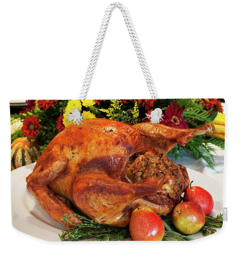 Stuffed Weekender Tote Bag featuring the photograph Roast Turkey by Tetra Images