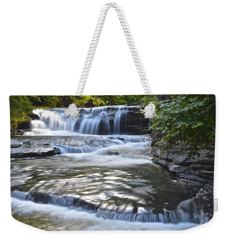 Robert Weekender Tote Bag featuring the photograph Robert Treman State Park by Frozen in Time Fine Art Photography