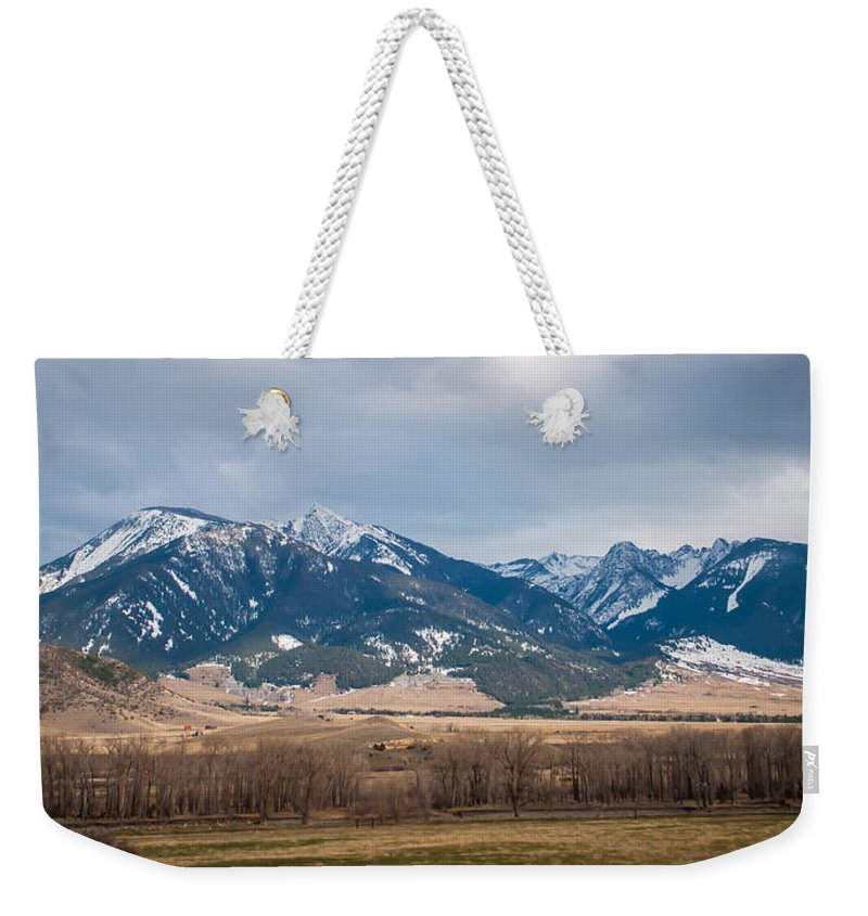 America Weekender Tote Bag featuring the photograph Rocky Mountains In Montana by Alex Grichenko