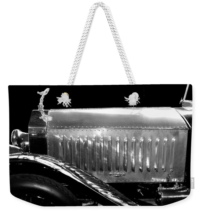 Rolls Royce Weekender Tote Bag featuring the photograph Rolls Royce Silver Ghost 1909 by Peter Lloyd