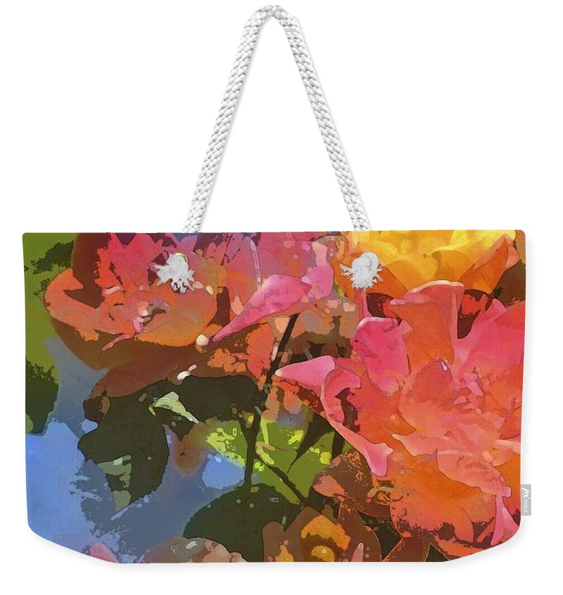 Floral Weekender Tote Bag featuring the photograph Rose 208 by Pamela Cooper