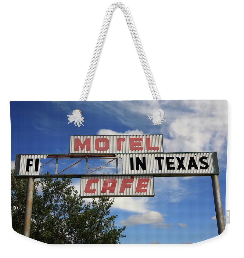 66 Weekender Tote Bag featuring the photograph Route 66 - Glenrio Texas by Frank Romeo