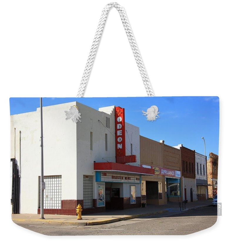 66 Weekender Tote Bag featuring the photograph Route 66 - Odeon Theater by Frank Romeo