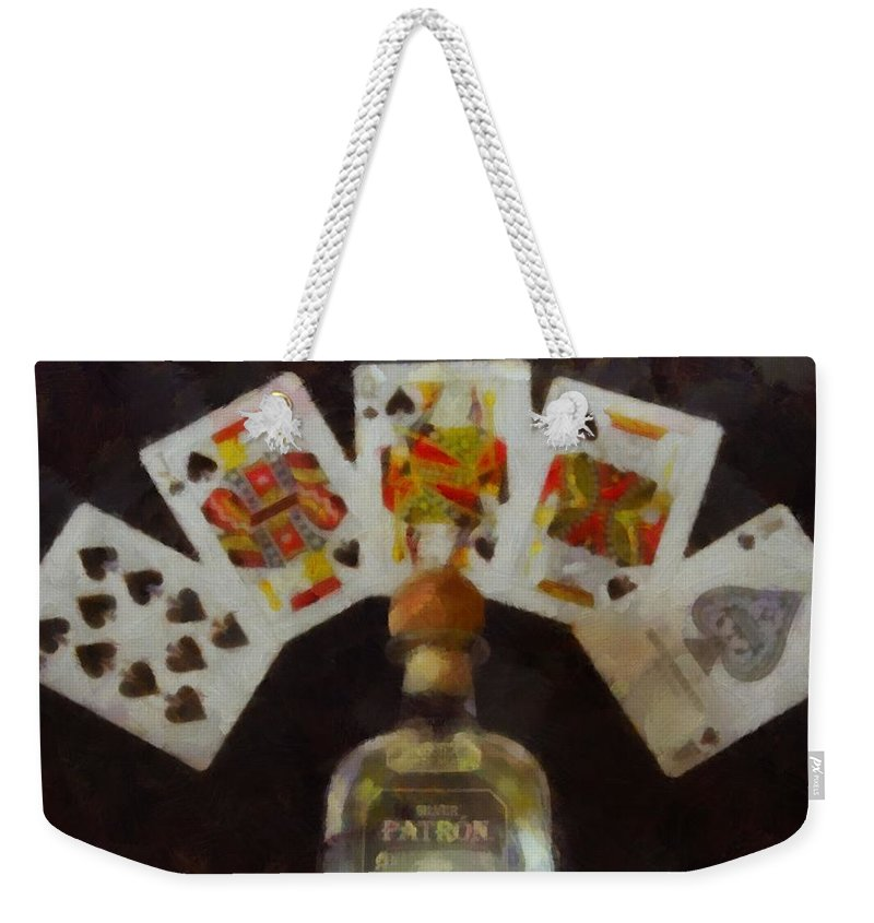 Royal Flush Weekender Tote Bag featuring the painting Royal Flush by Dan Sproul
