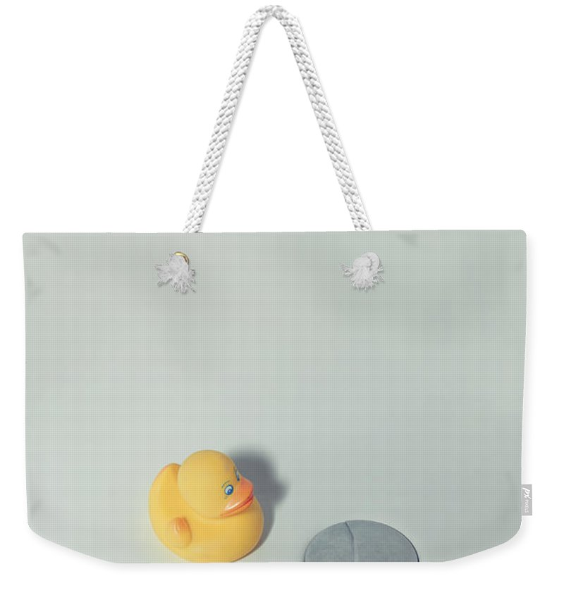 Duck Weekender Tote Bag featuring the photograph Rubber Duck by Joana Kruse