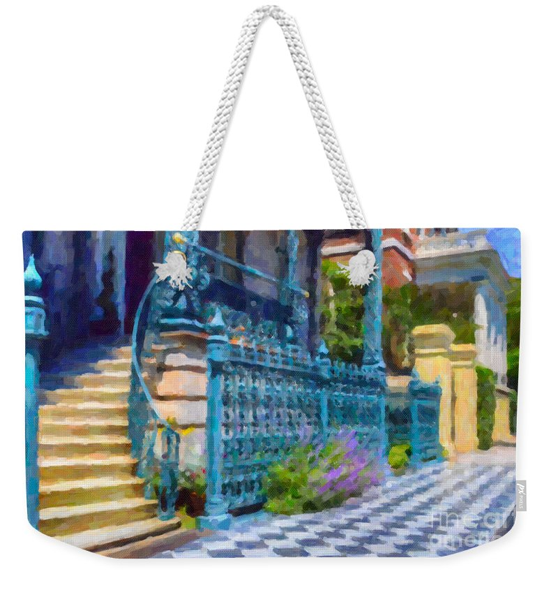 John Rutledge House Inn Weekender Tote Bag featuring the digital art Rutledge House Inn by Dale Powell