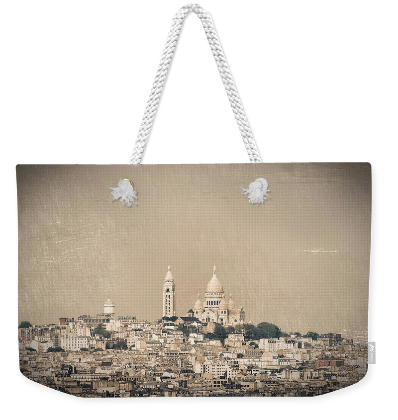 Montmartre Weekender Tote Bag featuring the photograph Sacre Coeur Basilica Of Montmartre In Paris by Dutourdumonde Photography