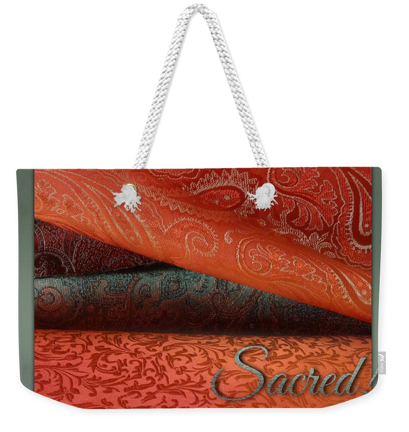 Fabric Weekender Tote Bag featuring the digital art Sacred by Richard Laeton