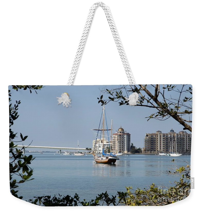Sarasota Weekender Tote Bag featuring the photograph Sarasota Bay by Christiane Schulze Art And Photography