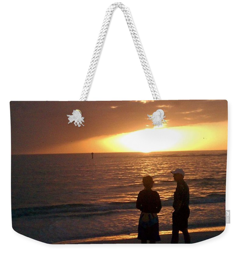 Sunset Weekender Tote Bag featuring the photograph Sarasota Sunset by Gary Wonning