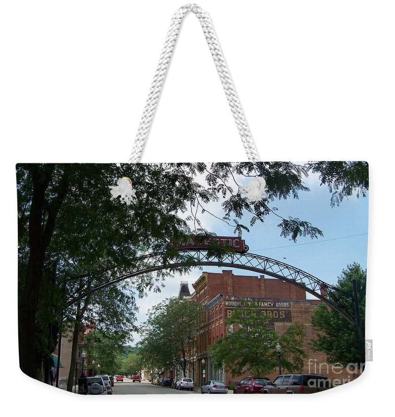 Chillicothe Weekender Tote Bag featuring the photograph Second Street by Charles Robinson