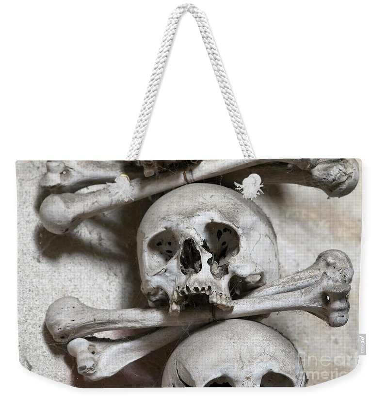 Ossuary Weekender Tote Bag featuring the photograph Sedlec Ossuary - Charnel-house by Michal Boubin