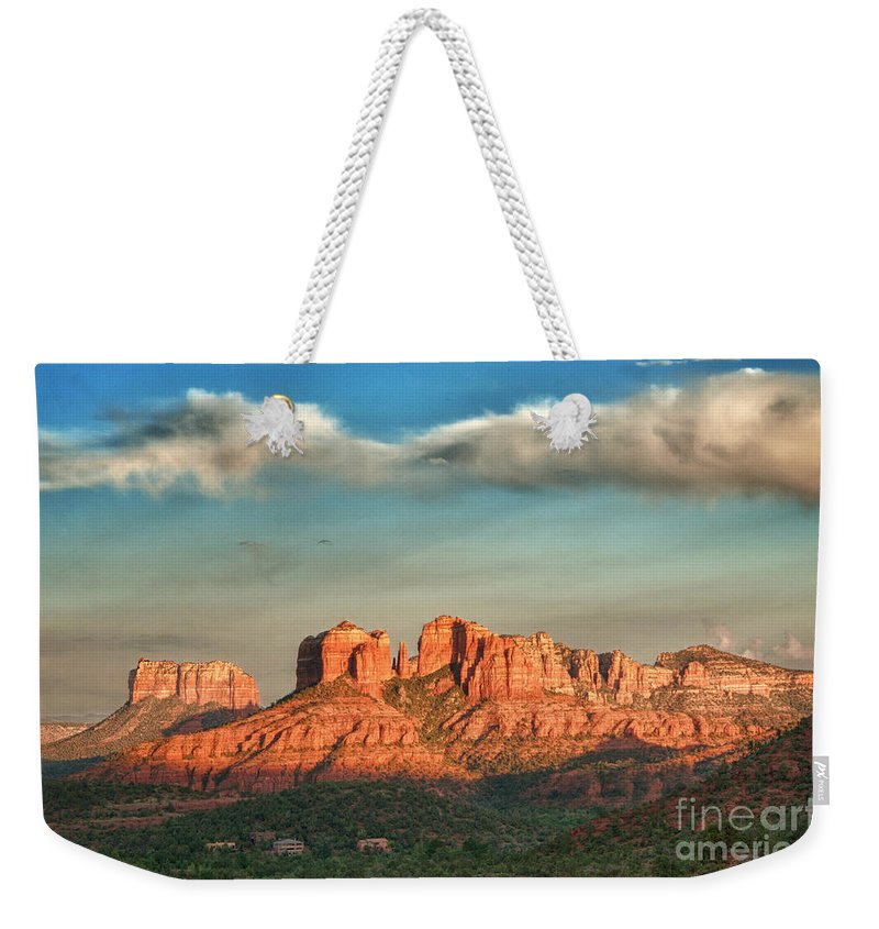 Sedona Weekender Tote Bag featuring the photograph Sedona by Claudia Kuhn