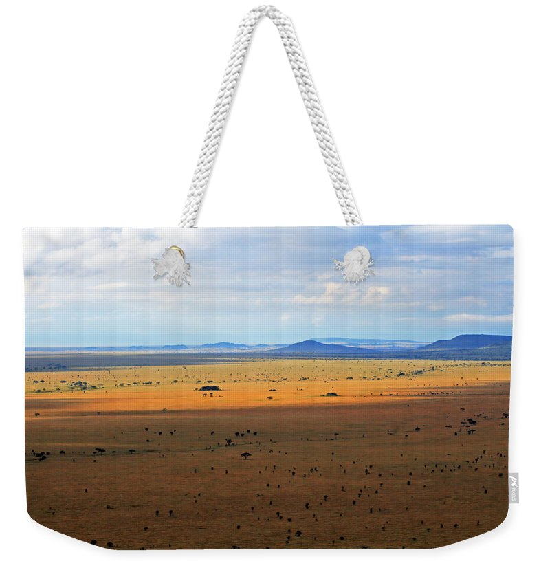 Serengeti Weekender Tote Bag featuring the photograph Serengeti Landscape by Tony Murtagh