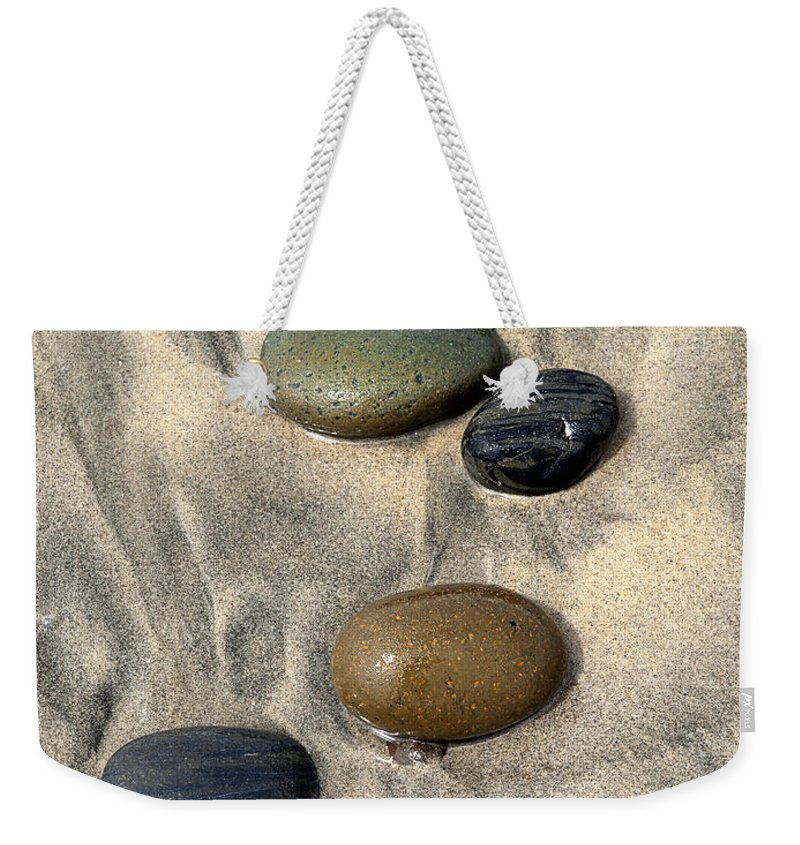 Beach Weekender Tote Bag featuring the photograph Seven by Joe Schofield