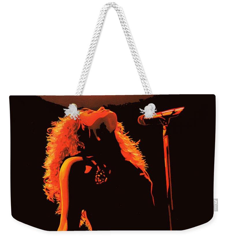Shakira Weekender Tote Bag featuring the painting Shakira by Paul Meijering