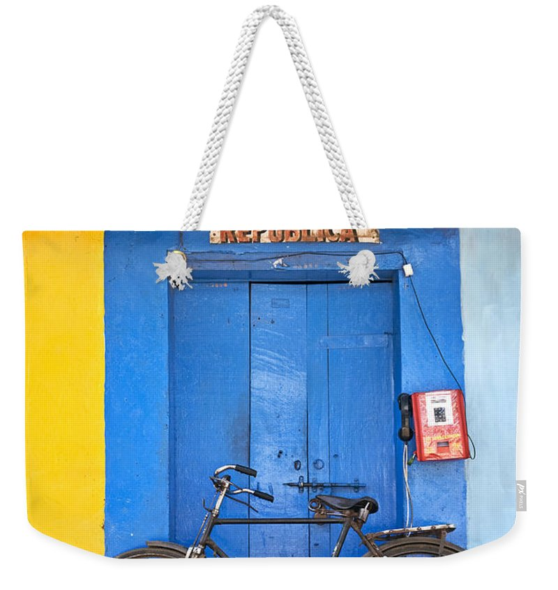 Goa Weekender Tote Bag featuring the photograph Shop On Street In Goa India by Jacek Malipan