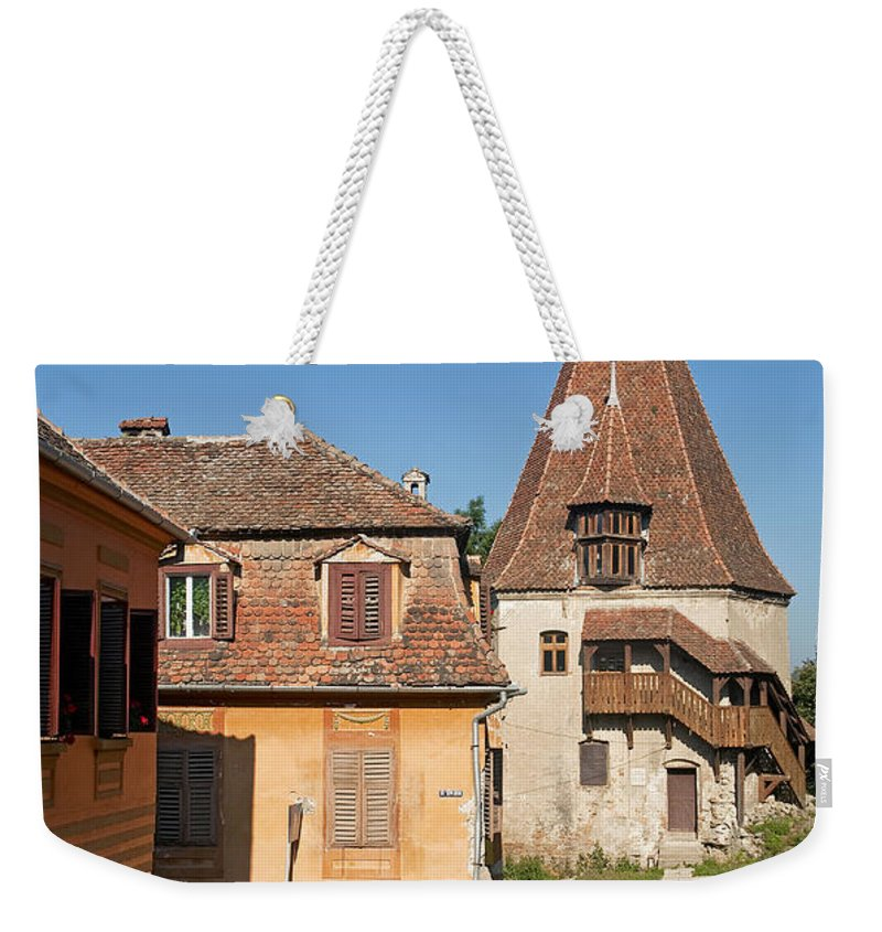 Travel Weekender Tote Bag featuring the photograph Sighisoara Transylvania Medieval Historic Town In Romania Europe by Jacek Malipan