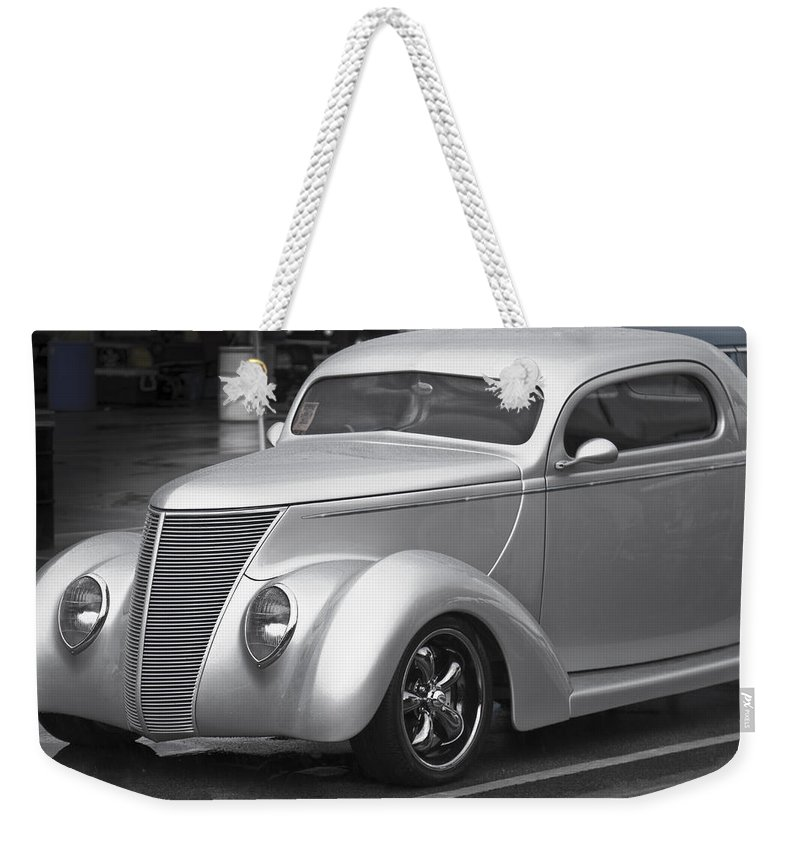 American Weekender Tote Bag featuring the photograph Silver Ford by Jack R Perry