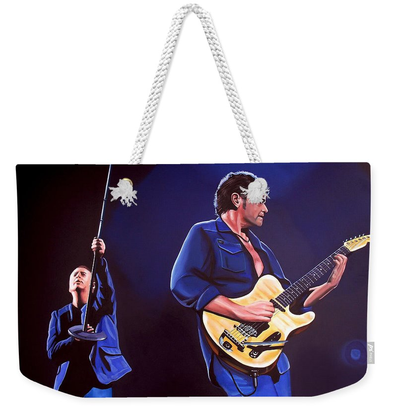 Simple Minds Weekender Tote Bag featuring the painting Simple Minds by Paul Meijering