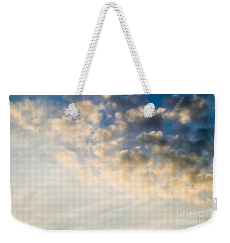 Day Weekender Tote Bag featuring the photograph Sky With Clouds by Dan Radi