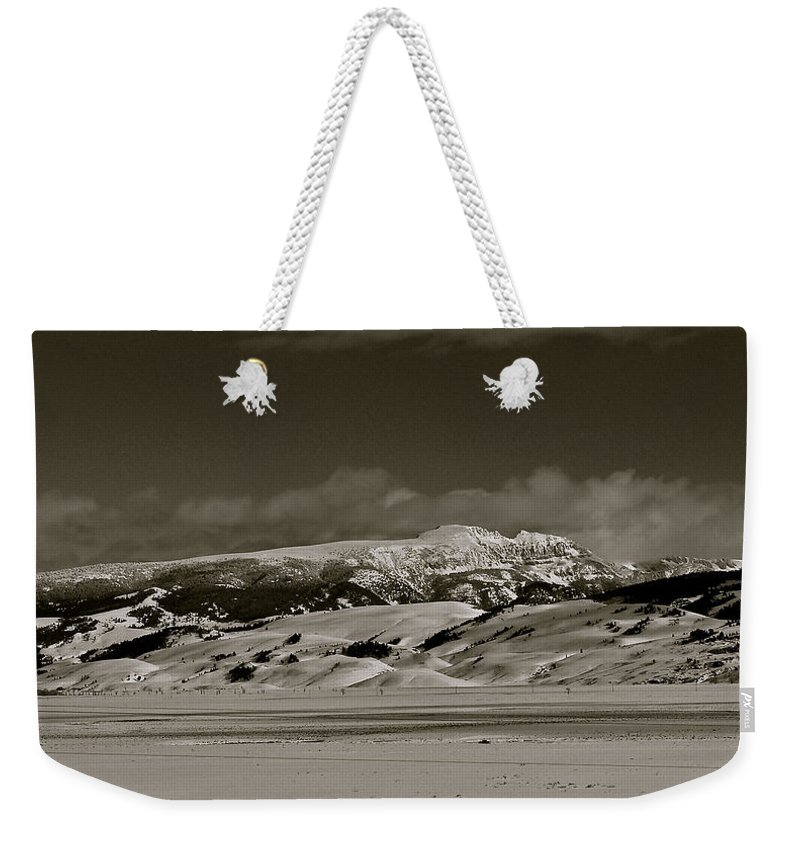 Grand Teton National Park Weekender Tote Bag featuring the photograph Sleeping Indian by Eric Tressler