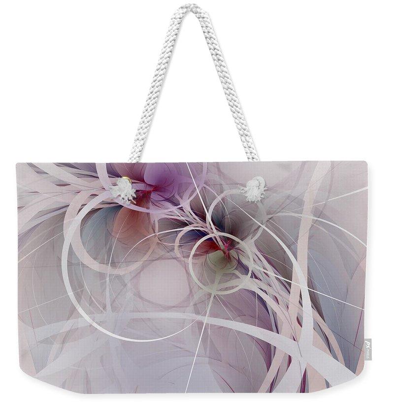 Sleight Of Hand Weekender Tote Bag featuring the digital art Sleight Of Hand by NirvanaBlues