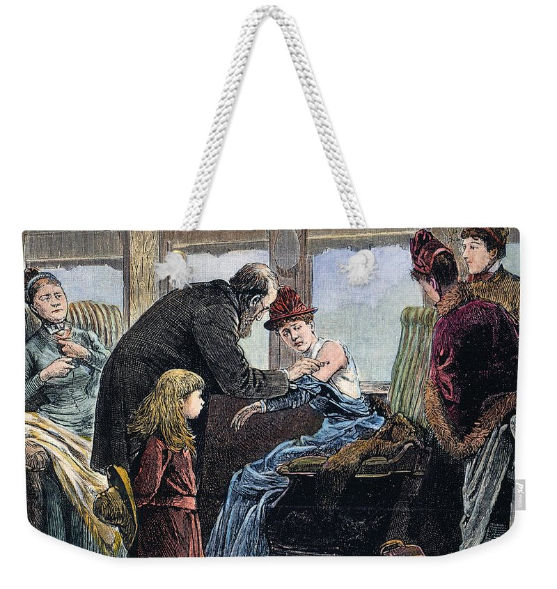 1885 Weekender Tote Bag featuring the photograph Smallpox Vaccination, 1885 by Granger