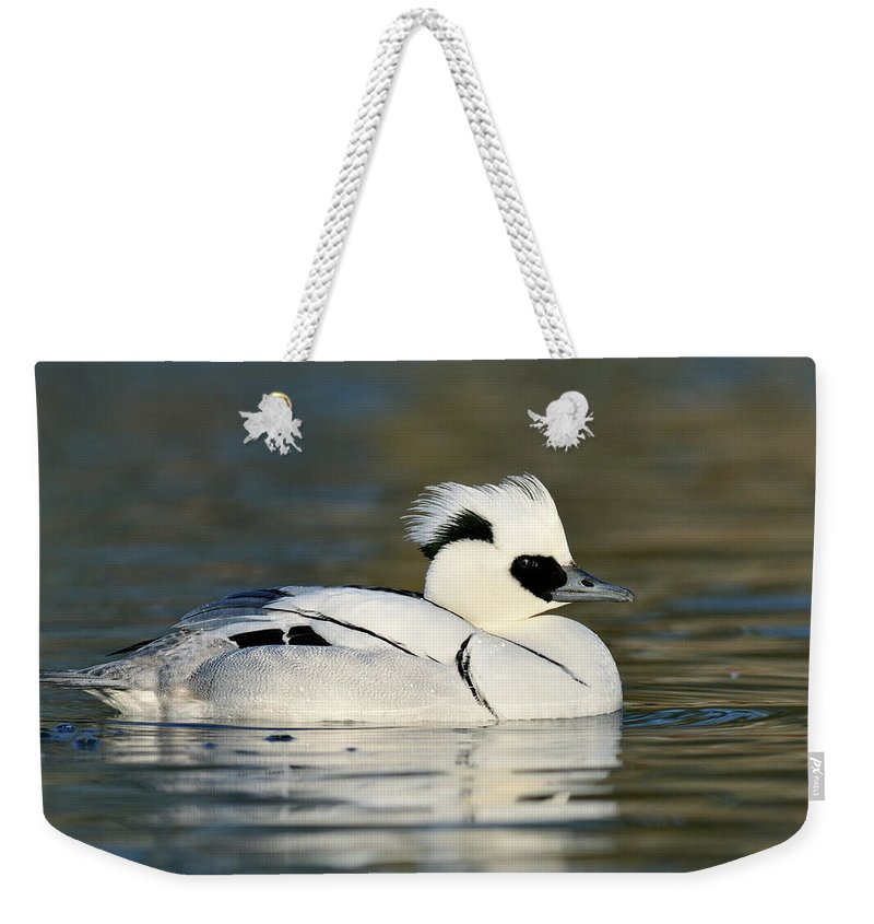 Fn Weekender Tote Bag featuring the photograph Smew by Jasper Doest