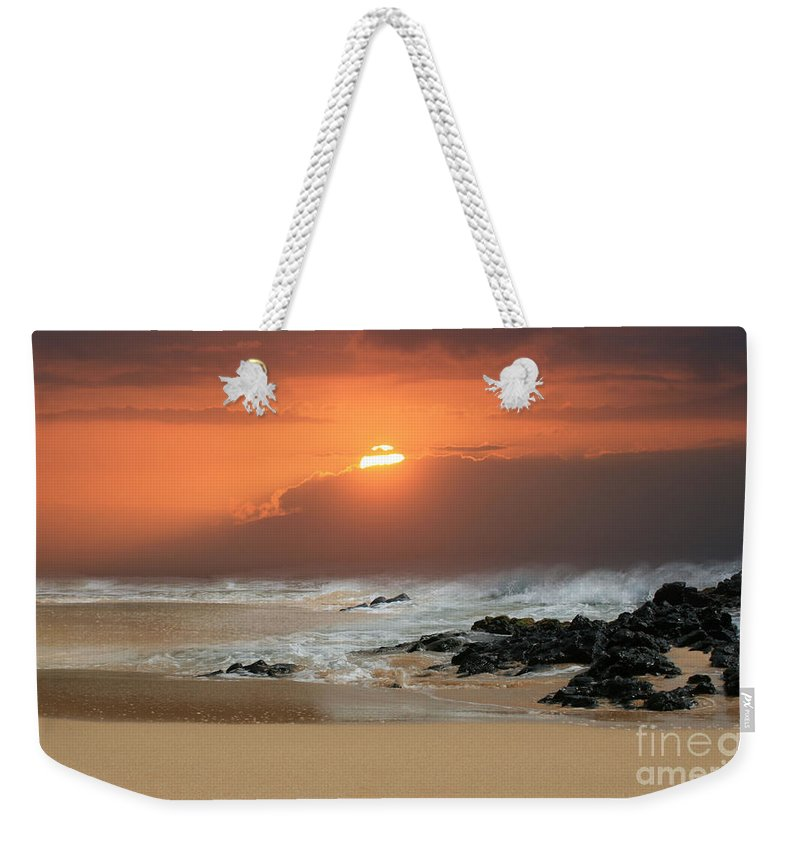Aloha Weekender Tote Bag featuring the photograph Song Of The Sea by Sharon Mau