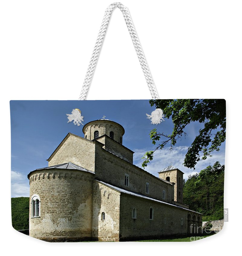Ancient Weekender Tote Bag featuring the photograph Sopocani Monastery by Zoran Berdjan