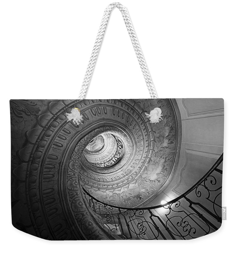 Spiral Staircase Weekender Tote Bag featuring the photograph Spiral Staircase by Chevy Fleet